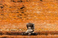 The Fracture buddha statue in Temple wat Mahathat in Ayutthaya Royalty Free Stock Photos