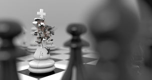Fracture Chess Royalty Free Stock Photos