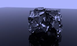 Fracture witer ice of background, 3d. Render Stock Images