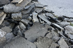Fractured concrete surface. Closeup background Royalty Free Stock Photo