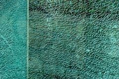 Fractured glass surface. Broken glass surface, shallow DOF, great for use as a background Stock Photo