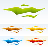 Fractured land. Vector illustration of fractured land in several color variations Stock Images