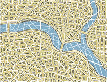 Fractured map stock illustration