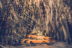 Fractured NYC Taxi Royalty Free Stock Images