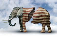 Fractured Republican Elephant Stock Photos