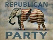 Fractured Republican Elephant Stock Images