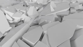 Fractured surface with random sized pieces. Abstract background, fractured surface with random sized pieces Stock Image