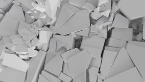 Fractured surface with random sized pieces. Abstract background, fractured surface with random sized pieces Stock Images