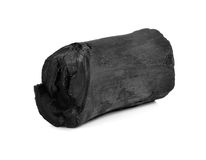 Fractured wood coal. Isolated over white background Royalty Free Stock Photography