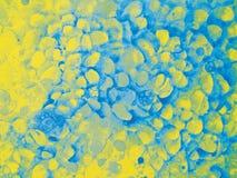 Fradga för blått för bubblavattenfärgguling Royaltyfri Bild