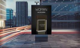 fragance Werbungsanschlagtafel auf der Straße stockfoto