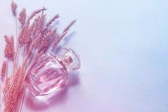 fragancia de la mujer en una botella de cristal, un regalo para una muchacha Fotos de archivo