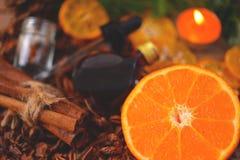 Fragancia del Aromatherapy de la naranja Salud y belleza, aún concepto de la vida imagenes de archivo