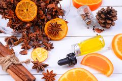 Fragancia del Aromatherapy de la naranja Salud y belleza, aún concepto de la vida fotografía de archivo
