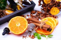 Fragancia del Aromatherapy de la naranja Salud y belleza, aún concepto de la vida imágenes de archivo libres de regalías