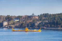 Fragancia by STA Road ferries. Small yellow Ro-Ro Stock Image