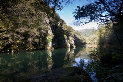Fragas do Eume I. Eume river in Galicia, Spain. Atlantic forest Royalty Free Stock Photography