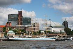 Fragata anclada del MIR en Hamburgo Fotografía de archivo libre de regalías