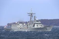 Fragata del misil teledirigido de la Adelaide-clase de HMAS Sydney FFG 03 de la marina de guerra australiana real imagen de archivo libre de regalías
