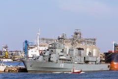 Fragata multiusos Marasesti - fuerzas navales rumanas Foto de archivo libre de regalías
