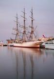 Fragata vieja en Gdynia polonia Imágenes de archivo libres de regalías