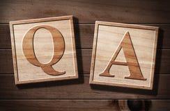 Frage-Antwort. Stockfotos