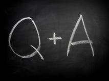 Frage-Antwort Lizenzfreies Stockbild