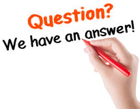 Frage-Antwortkonzept Lizenzfreie Stockbilder