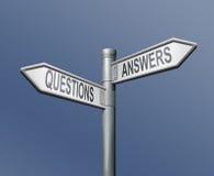 Frage-Antwortverkehrsschild Lizenzfreies Stockbild