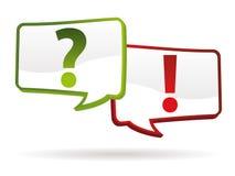Frage-Antwortzeichen Lizenzfreie Stockfotografie