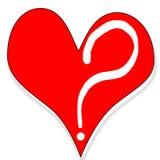 Frage der Liebe lizenzfreie abbildung