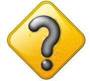 Frage im Zeichen Stockfoto