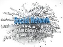 Frage-Konzeptwort-Wolkenhintergrund des Sozialen Netzes des Bildes 3d Lizenzfreie Stockfotografie