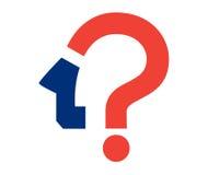 Frage Mark Icon Design Lizenzfreie Stockbilder