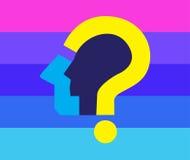 Frage Mark Icon Design Stockfotos