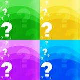 Frage-Markierung Hintergrund Stockbild
