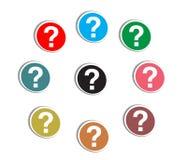Frage markreer Lizenzfreies Stockfoto