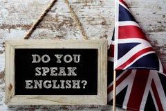 Frage sprechen Sie Englisch? stockfotografie