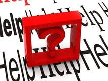 Frage. Symbol lizenzfreies stockbild
