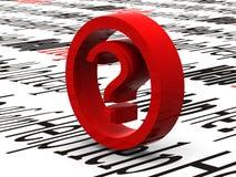 Frage. Symbol lizenzfreie stockfotos