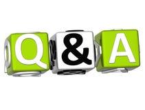 Frage u Lizenzfreie Stockfotos