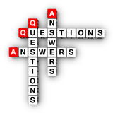 Frage und Antwort stock abbildung