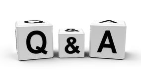 Frage und Antwort vektor abbildung