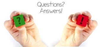 Frage und Antwort stockfotografie