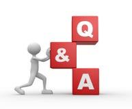 Frage und Antwort - Q&A stock abbildung
