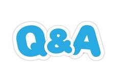 Frage und Antworten-Aufkleber Lizenzfreies Stockbild