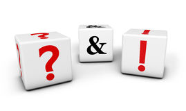 Frage und Antworten-Geschäfts-Konzept Lizenzfreie Stockfotos