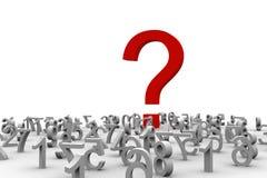 Frage von Zahlen Lizenzfreie Stockbilder