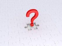 Frage, zum des Puzzlespiels abzuschließen Stockfoto