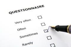 Fragebogen Lizenzfreie Stockbilder